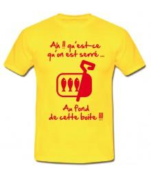 "Tee shirt Junior ""Sardines"" Jaune"
