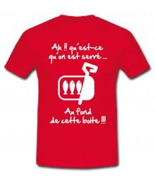 "Tee shirt Junior ""Sardines"" Rouge"