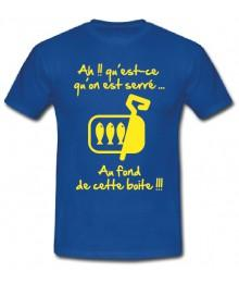 "Tee shirt Junior ""Sardines"" Bleu"