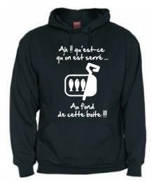 "Sweat Capuche Junior ""Sardines"" Noir"