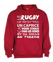 Sweat Capuche Rugby Terroir Rouge