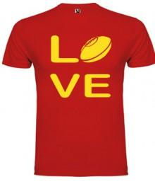 Tee shirt Love Rugby Rouge