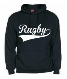 Sweat capuche Rugby Noir