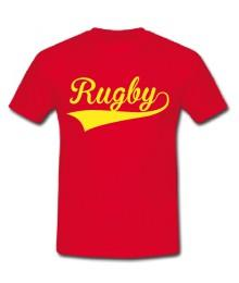 Tee shirt Rugby Rouge