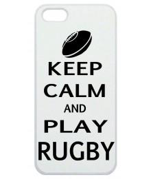 Coque Smartphone Keep Calm and Play Rugby