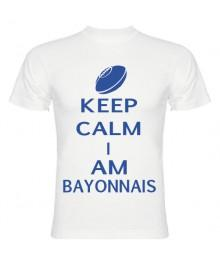Tee Shirt Keep Calm I Am Bayonnais