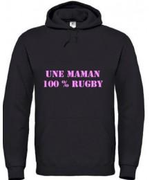 Sweat Maman 100 % noir rose