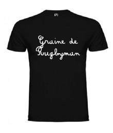 Tee shirt Junior Graine de Rugbyman Noir