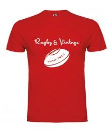 Tee Shirt Rugby & Vintage Ballon Rouge