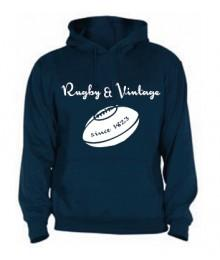 Sweat capuche Rugby & Vintage Ballon Navy