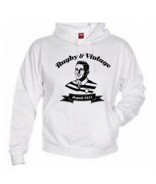 Sweat capuche Rugby & Vintage Buste Blanc