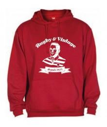 Sweat capuche Rugby & Vintage Buste Rouge