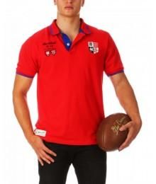 "Polo Ruckfield MC "" FRANCE ANGLETERRE"" Rouge"