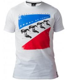 "Tee Shirt Rugby Division ""SPORT DE COMBAT"" BLANC"