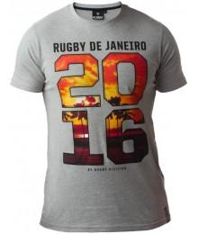 "Tee Shirt Rugby Division ""RIO""Gris"
