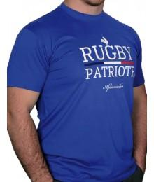 "Tee shirt Aficionados ""PATRIOTE"" Bleu Royal"