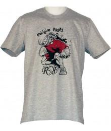 "Tee shirt Religion Rugby ""Moky le Mamouth"" Gris"
