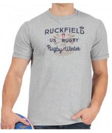 Tee Shirt Ruckfield Rugby Aventure Gris Chinè
