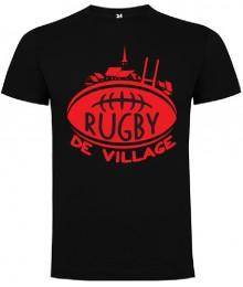 "Tee Shirt ""Village"" LoLRugby Noir/Rouge"