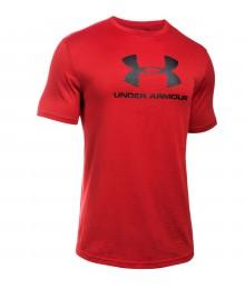 Tee shirt Under Armour Ample Rouge Logo Noir