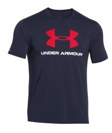 Tee shirt Under Armour Marine Logo Rouge
