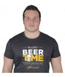 "Tee shirt Aficionados ""Beer Time"" Noir"