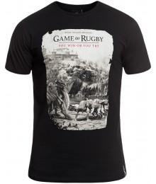 "Tee Shirt Rugby Division ""GAMES"" Noir"